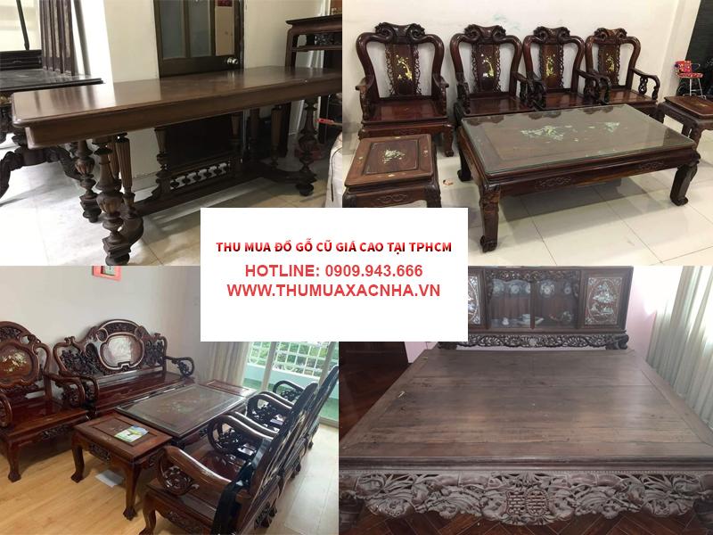 Các sản phẩm gỗ cũ đang được Đình Duy thu mua